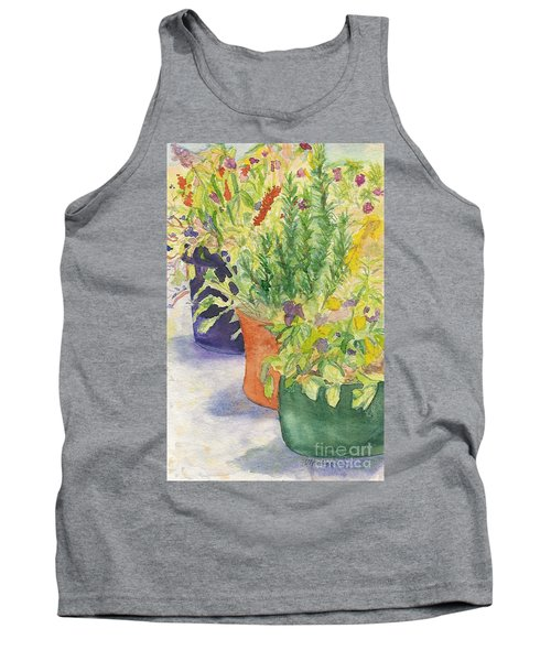Tank Top featuring the painting Potted Beauties  by Vicki  Housel
