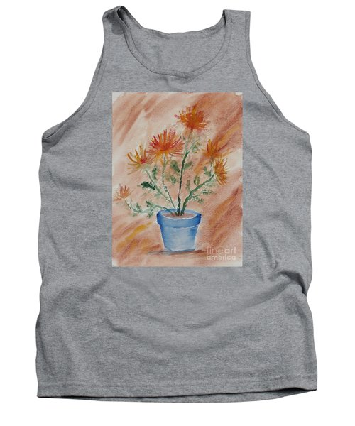 Potted Plant - A Watercolor Tank Top