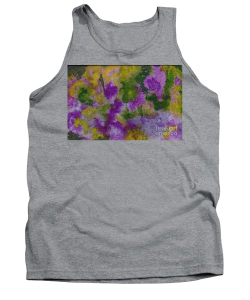 Tank Top featuring the painting Pouring Flowers by Vicki  Housel