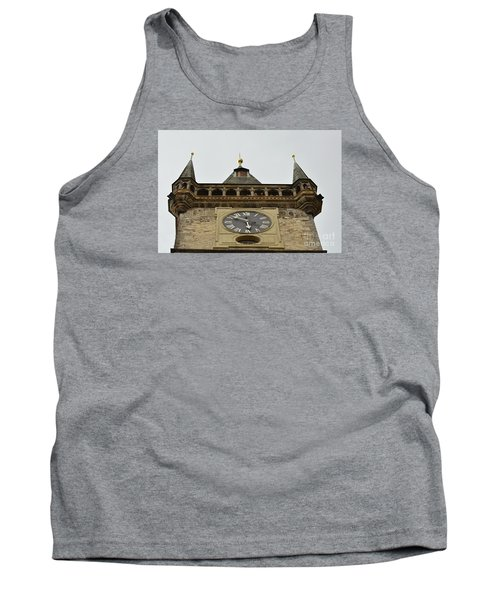 Tank Top featuring the digital art Prague-architecture 2 by Leo Symon
