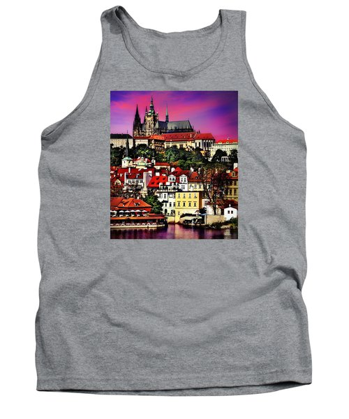River Front Dining In Prague  Tank Top