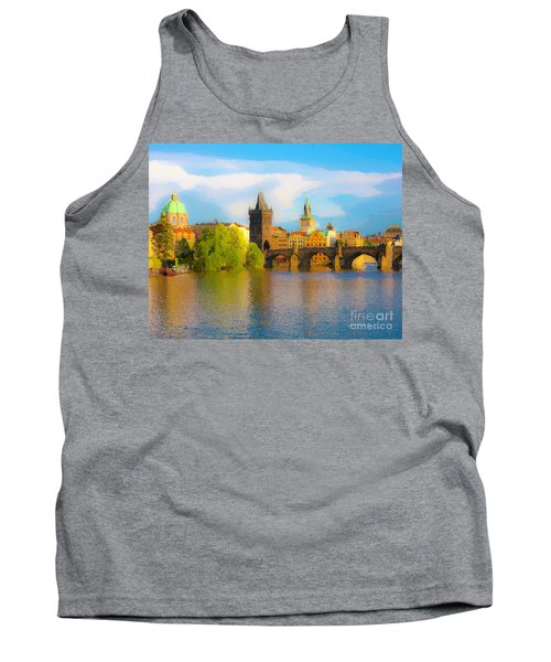 Tank Top featuring the photograph Praha - Prague - Illusions by Tom Cameron
