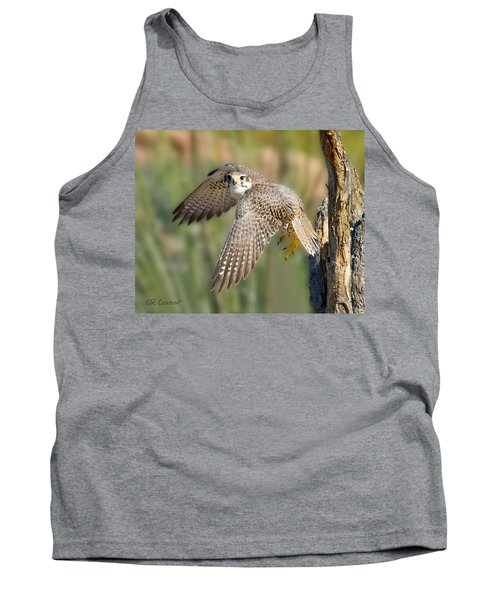Prairie Falcon Taking Flight Tank Top