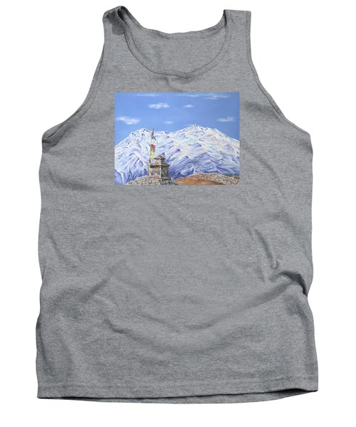 Tank Top featuring the painting Prayer Flag by Elizabeth Lock