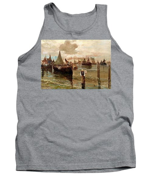 Tank Top featuring the painting Preparing The Trap by Rosario Piazza