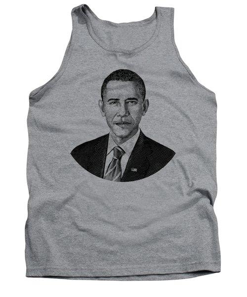 President Barack Obama Graphic Black And White Tank Top