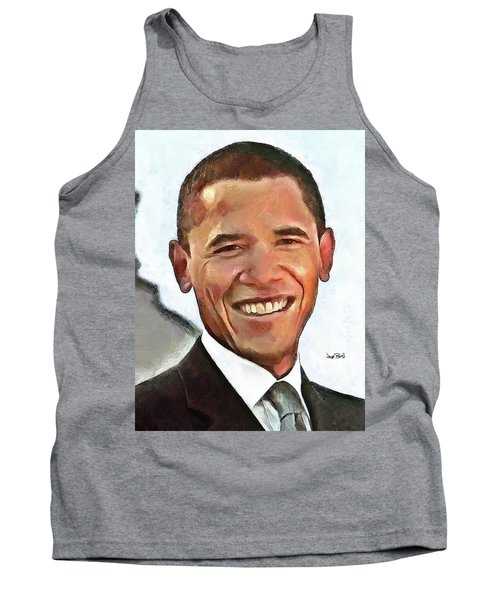 President Barack Obama Tank Top by Wayne Pascall