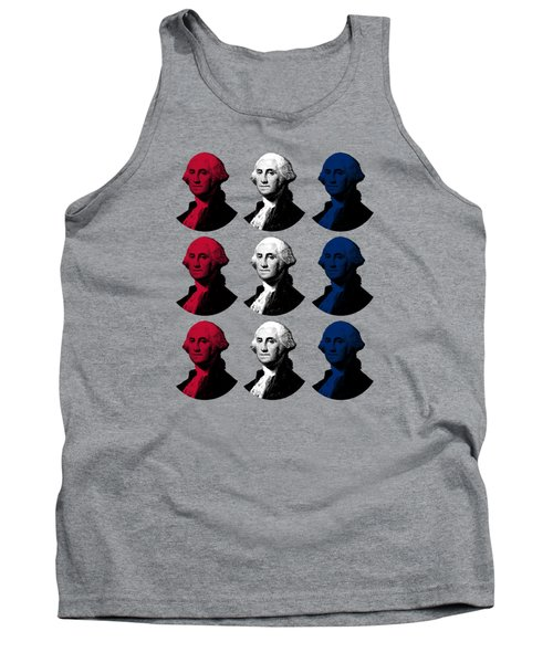 President George Washington - Red, White, And Blue  Tank Top