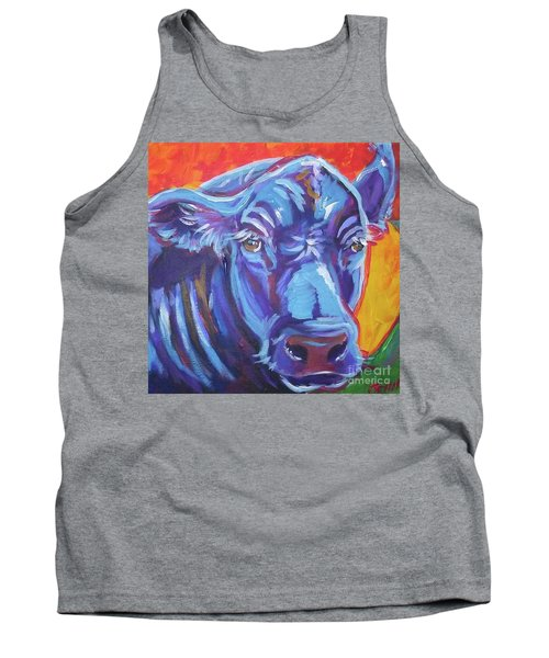 Tank Top featuring the painting Pretty Face Cow by Jenn Cunningham
