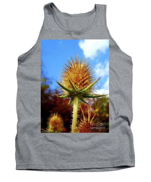 Tank Top featuring the photograph Prickly Thistle by Nina Ficur Feenan
