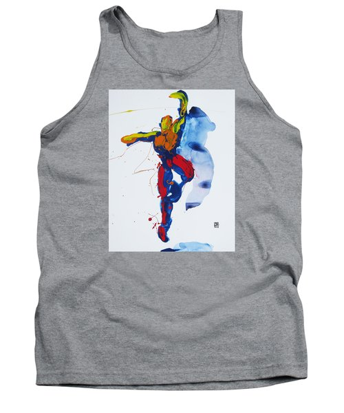 Primary Vertical Jump Shadow Tank Top by Shungaboy X