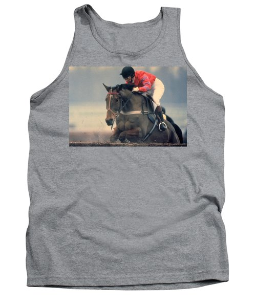 Princess Anne Riding Cnoc Na Cuille At Kempten Park Tank Top