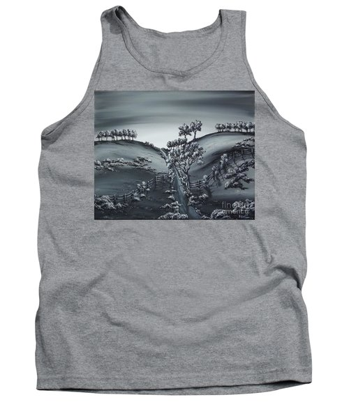 Tank Top featuring the painting Private Road by Kenneth Clarke