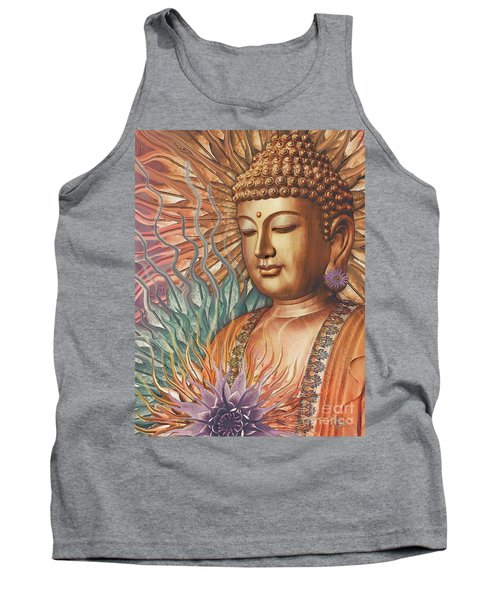 Proliferation Of Peace - Buddha Art By Christopher Beikmann Tank Top
