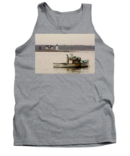 Prospect Harbor Lighthouse Tank Top by Brent L Ander