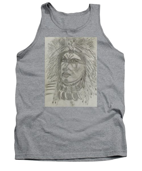 Tank Top featuring the drawing Proud Nation by Sharyn Winters