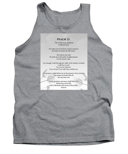 Tank Top featuring the painting Psalm 23 by Trilby Cole