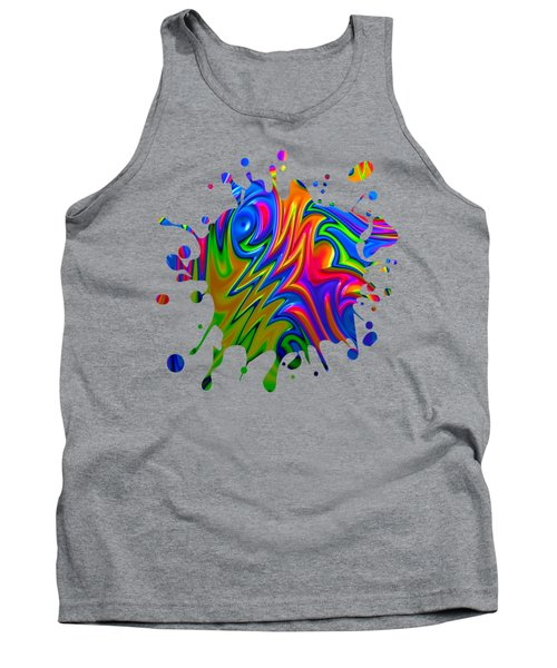 Psychedelic Rainbow Fractal Tank Top