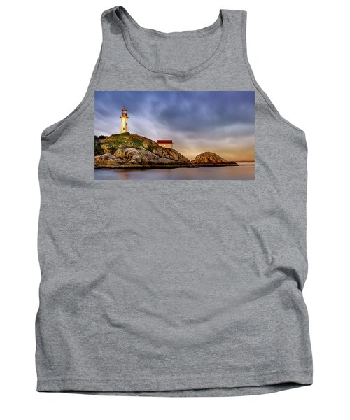 Pt Atkinson Lighthouse Sunset Tank Top