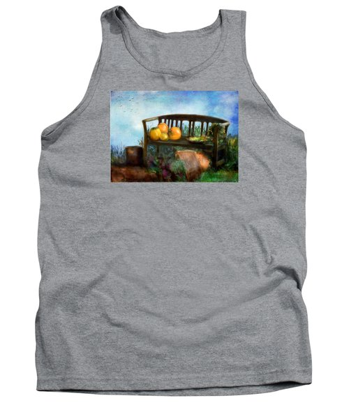 Pumpkin Harvest Respite Tank Top by Colleen Taylor