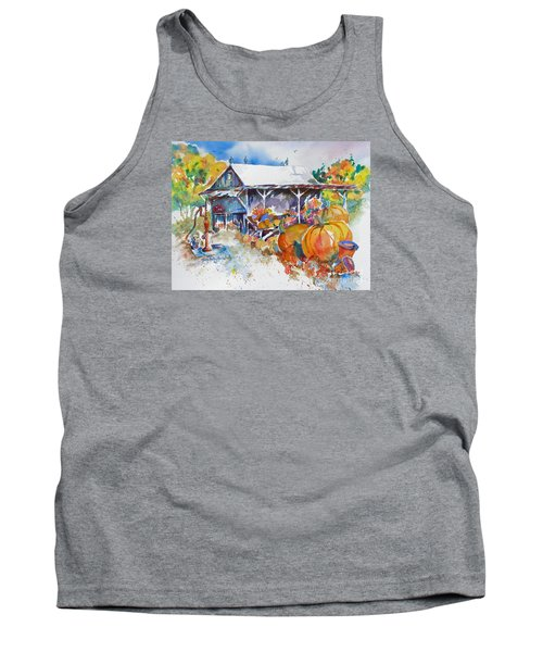 Tank Top featuring the painting Pumpkin Time by Mary Haley-Rocks