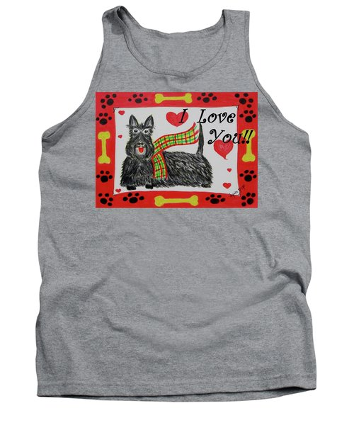 Puppy Love Tank Top by Diane Pape