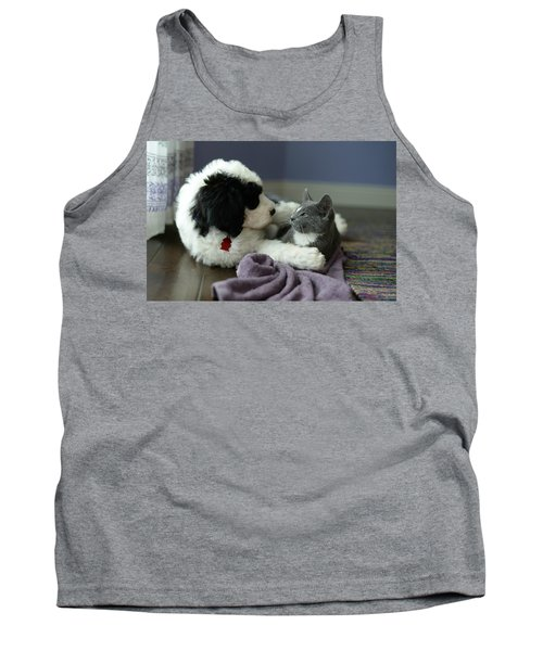 Puppy Love Tank Top by Linda Mishler