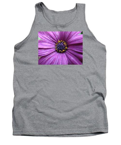 Purple African Daisy Tank Top