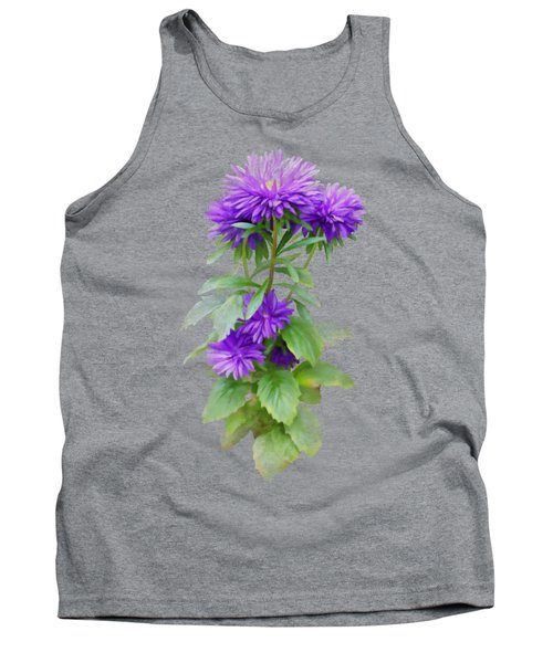Tank Top featuring the painting Purple Aster by Ivana