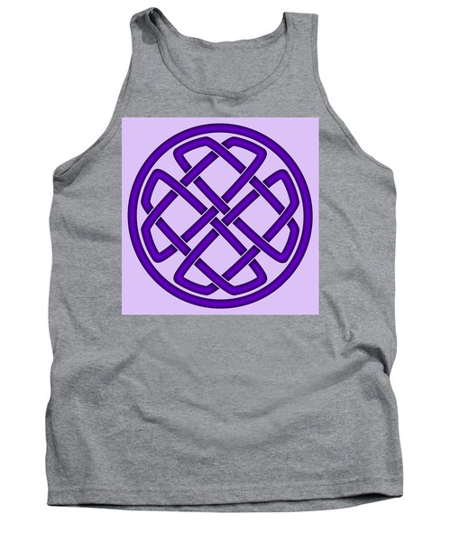 Tank Top featuring the digital art Purple Celtic Knot by Jane McIlroy