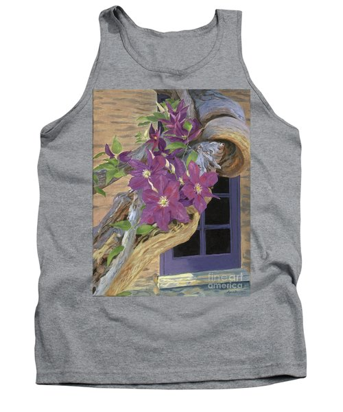 Purple Clematis Tank Top