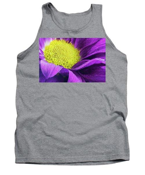 Purple Daisy In The Garden Tank Top