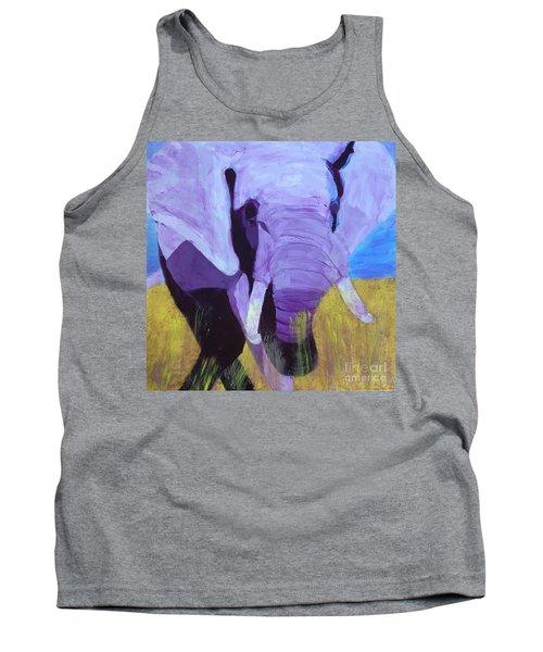 Purple Elephant Tank Top