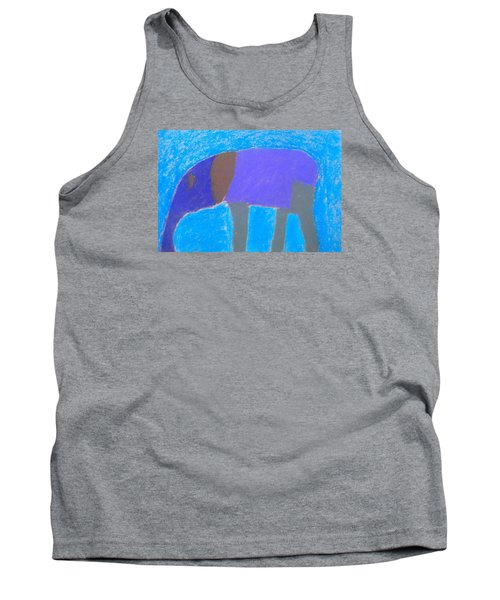 Tank Top featuring the pastel Purple Elephant by Artists With Autism Inc
