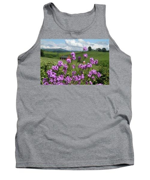 Purple Flower In Landscape Tank Top