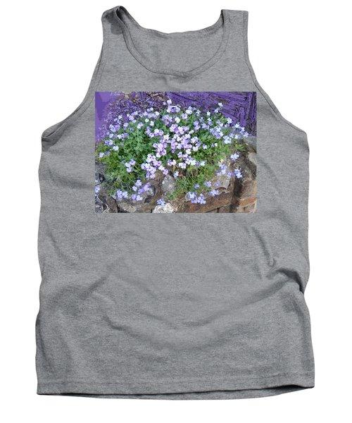Purple Flower Textured Photo 1028b Tank Top