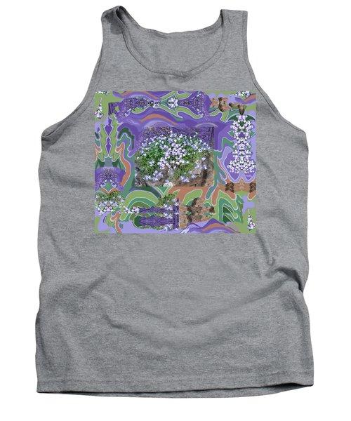 Purple Flower Textured Photo 1028d Tank Top