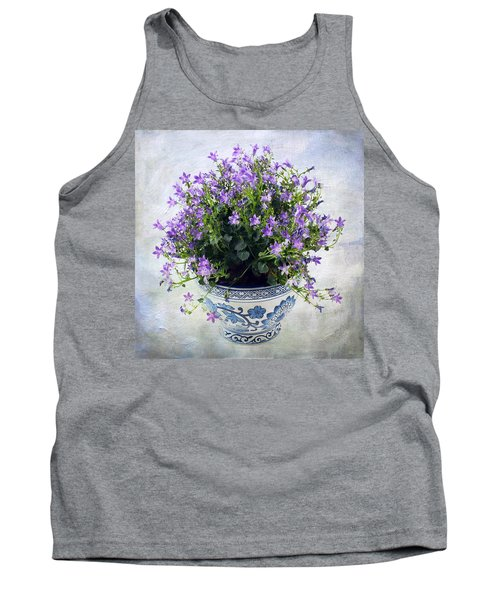 Purple Flowers In Pot Tank Top by Catherine Lau