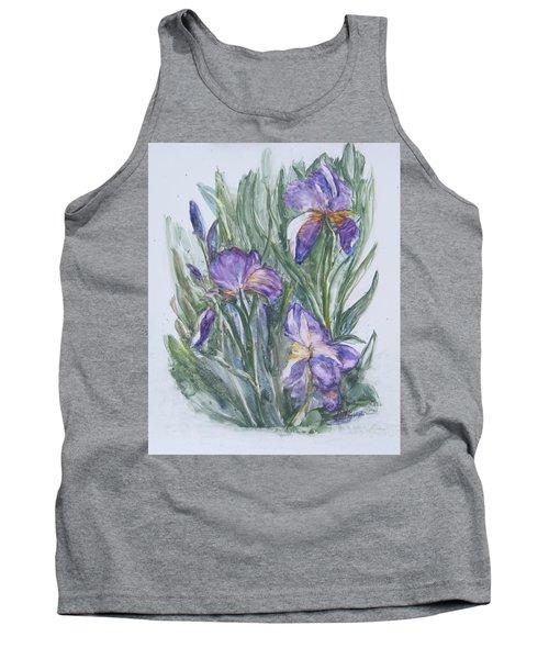 Purple Iris Watercolor Tank Top