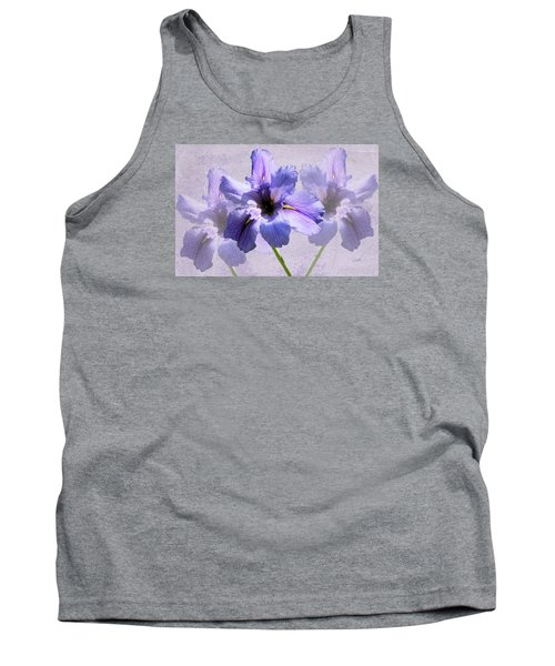 Purple Irises Tank Top by Rosalie Scanlon