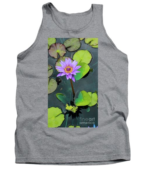 Purple Lilly With Lilly Pads Tank Top