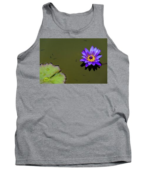 Purple Lily With Tiny Fish Tank Top