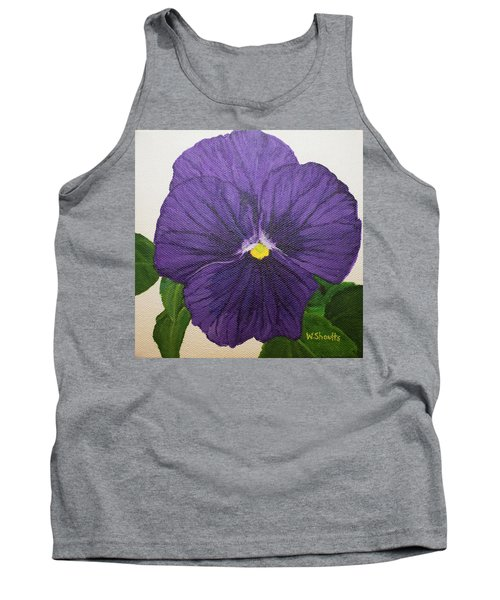 Purple Pansy Tank Top by Wendy Shoults