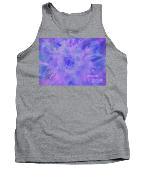 Purple Passion By Sherriofpalmspringsflower Art-digital Painting  Photography Enhancements Tradition Tank Top