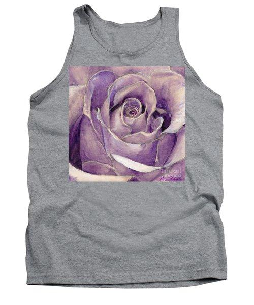 Purple Rose Tank Top