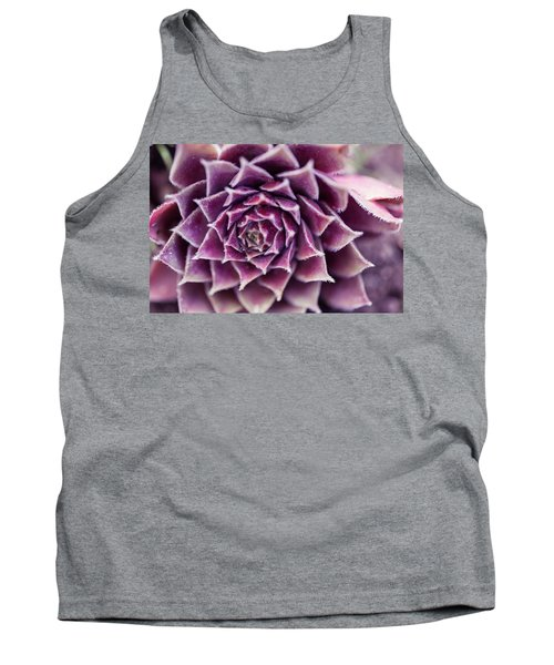 Purple Succulent Plant Blossom In Summer Tank Top