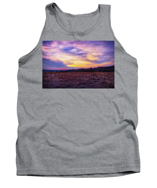 Purple Sunset At Retzer Nature Center Tank Top by Jennifer Rondinelli Reilly - Fine Art Photography