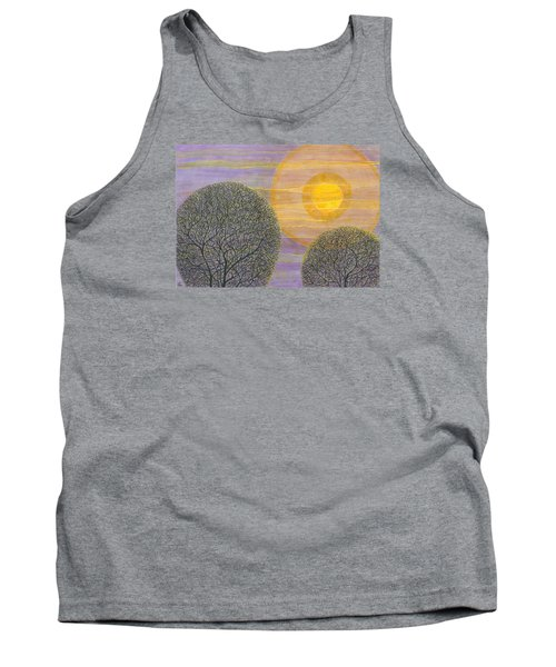 Purple Sunset Tank Top by Charles Cater