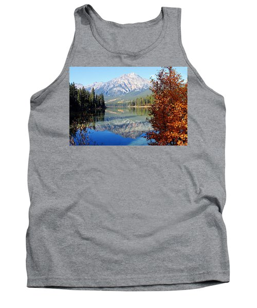 Pyramid Mountain Reflection 3 Tank Top by Larry Ricker