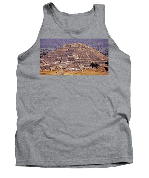 Pyramid Of The Sun - Teotihuacan Tank Top by Juergen Weiss